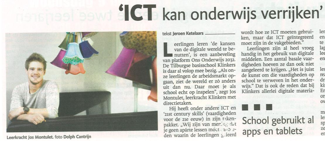 Artikel BD: ICT kan het onderwijs verrijken